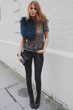 colored furs * What I Would Wear * The Inner Interiorista