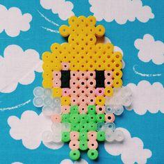 Tinker Bell perler beads by onetruesister