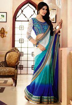 Majestic Multicolor Saree