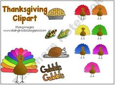 14 colorful png images for thanksgiving!