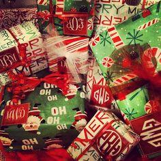 DIY Monogrammed Gift Tags