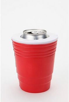 Can cooler! Awesome way to keep your drink cold but your hands dry.