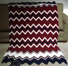 My red, white and blue ripple afghan!