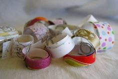 Make your own washi tape using dollar store tissue paper and wrapping paper with a Xyron.