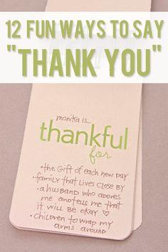 12 fun ways to say thank you