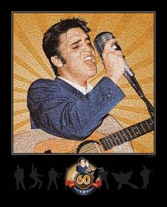 Official Elvis 60th Anniversary of Rock & Roll Fan Mosaic - Fan Mosaics