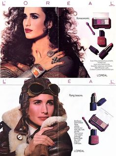L'Oreal, early 80s  Model: Andie MacDowell