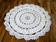 Actual instructions for a crochet doily rug - not just a dead-end pin!