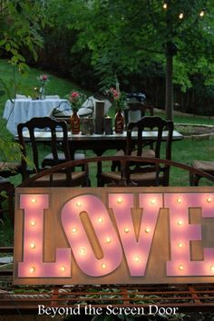 Lighted Love Sign fo