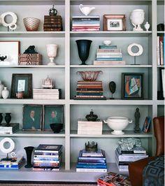 book shelf styling inspiration