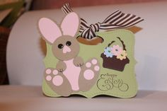 Stampin' Up! Top Note Bag Amber Hurlburt Easter Bunny Punch Art
