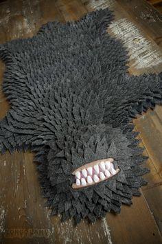 Monster-skin rug.