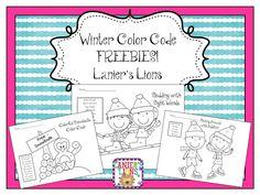 Winter Color Code FREEBIE!