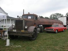 """The reason many of us were afraid to travel alone, Car and Truck from the 1971 movie """"Duel""""!"""