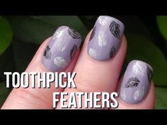 Super Easy Feather Nail Art with a Toothpick! | ArcadiaNailArt Tutorial