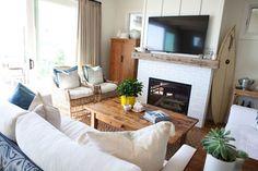 Casual Beach - beach-style - Living Room - Orange County - E² Interior Design