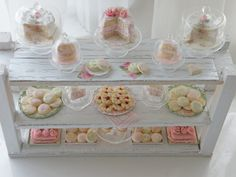 so lovely clay, dessert tables, bakeries, cottag miniatur, cottag design, cottage design, cottages, cottage kitchens, cynthia cottag