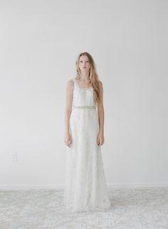 Martin - Sparkling rose lace slip dress | Twigs & Honey ®, LLC