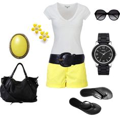 Black & yellow summer happy thoughts, summer wear, summer looks, style, white outfits, summer outfits, bring, white stuff, bumble bees