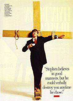 this man, peopl, business cards, hero, christ, british inspir, quot, stephen fri, thing
