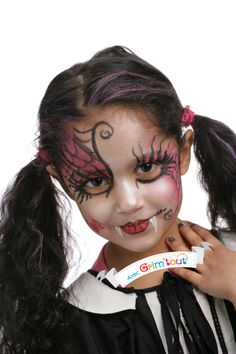 Maquillage pour halloween on pinterest transformers zombie girl and dracula - Maquillage vampire petite fille ...