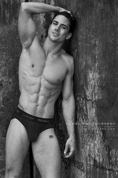 Joe Putignano | © Scott Marrs ► scottmarrsphotography.com | #MaleModel #shirtless #pecs #abs #torso #muscular #BikiniBrief #armpits