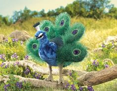 Small Peacock Puppet Stuffed Animal at theBIGzoo.com, a family-owned toy store.