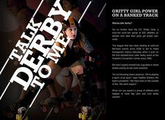 OC Roller Derby Girls by Lenin Aviles, via Behance