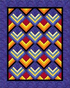 Chevron design quilt..beautiful deco quilt, primari color, chevron in primary colors, chevron quilting, color pop