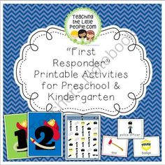 Kindergarten Teaching People In Our Community on Free Police Printables And Montessori Inspired Activities