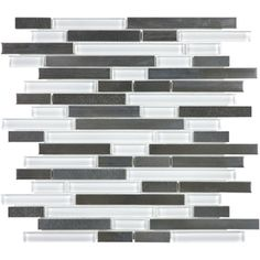 allen + roth Glacier Links Mixed Material Mosaic Wall Tile (Common: 12-in x 14-in; Actual: 12-in x 11.75-in)