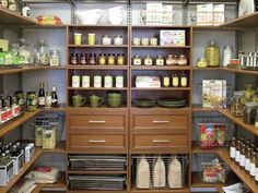 Pantry Idea (Safe Room)--fortified walls, sturdy door, well-stocked