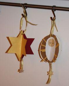 Symmetrical 3-D Christmas Ornaments + Advent Link-Up