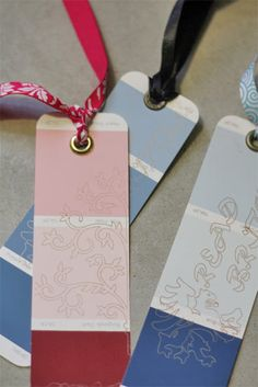 Paint chip bookmark for kids to make