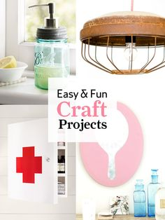 From gift ideas to decorating projects, our hundreds of easy craft projects are sure to inspire your creative spirit.    #crafts #diyprojects
