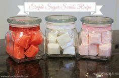 homemad soap, scrub recip, bath, sugar scrubs, simpl sugar, gift idea, diy stuff, bodi sugar, recip perfect
