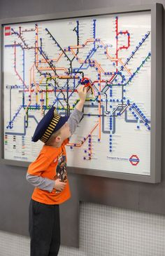 Ow.ly - image uploaded by @VisitBritain london underground, 2020 tube, lego addict, celebr london, tube map, maps, lego tube, legos