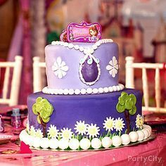 Treat your VIPs (Very Important Princesses) to a delectable confection! Click for our Sofia the First cake how-to!