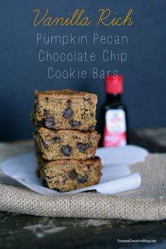 pecan chocol, chocolate chips, cooki bar, chocol chip, chip cooki, bar recipes, blog, pumpkin pecan, healthy desserts