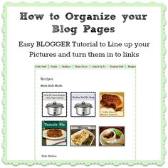 Crafty In Crosby: How to Organize your Blog Pages