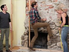 Team Drew: Living Room Demo - Brother Vs. Brother Season 2: Photo Highlights From Episode 1 on HGTV