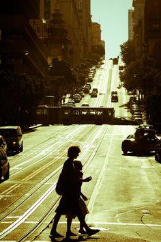 I wonder If We'll go home to Minnesota next Christmas by Thomas Hawk.   San Francisco, California.  USA.