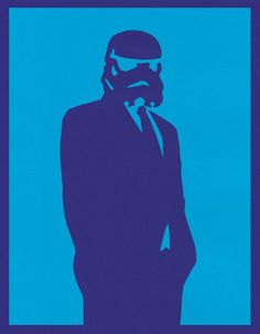 "Cool art / Business Trooper  by Guillermo Gonzalez  14""x18"" poster  $45.00"