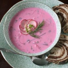 Chlodnik, Cold beet soup. I wish I had some now.