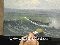Oil Painting Lesson - Wilson Bickford - Ocean Wave oil paintings, paint lesson, oil painting waves, wave draw, how to paint waves, ocean waves, wilson bickford, oil painting how to, oil painting lessons