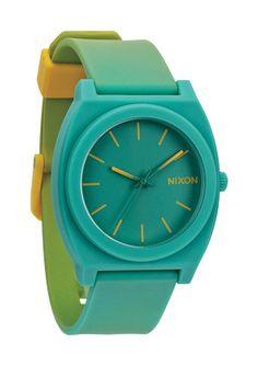 The Time Teller P - Yellow / Teal Fade | Nixon