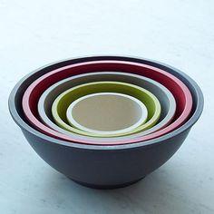 Eco-Fiber Bamboo Mixing Bowl Set #WestElm