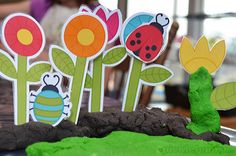 Free printable playdough garden accessories!