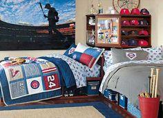 diy headboard ideas for teen boy | Bedroom Decorating Ideas for Sportsmen, Creative Bed Headboards and ...