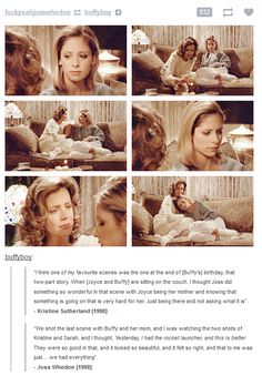 The end of Innocence - I've always thought Joyce did the best she could.  Reading what Kristine Sutherland and Joss said about the scene confirmed my conviction.